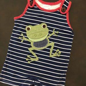 Baby boy Mudpie Romper - 3-6mo